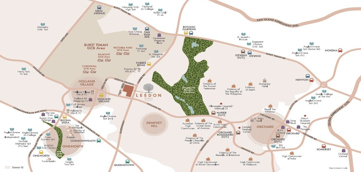 Leedon Garden Location Map - leedongreen-com.sg